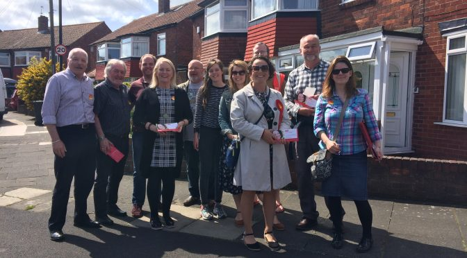 Speaking to residents across Newcastle North