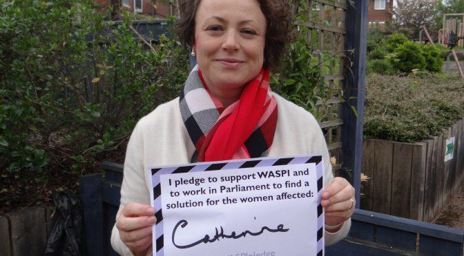 Signing the WASPI pledge